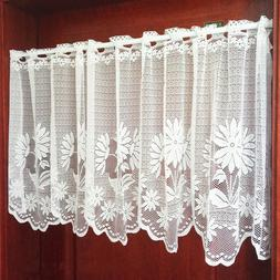 Embroidery Curtain Home Kitchen Cafe Lace Valance Window She