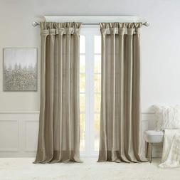 Madison Park Taupe Curtains for Living Room, Transitional Wi