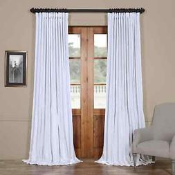 Extra Wide Vintage Textured Faux Dupioni Curt...