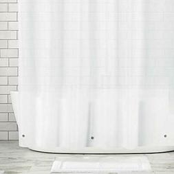 MDesign Extra Wide Waterproof, Shower Curtain Liners Mold/Mi