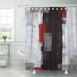 Emvency Fabric Shower Curtain Curtains with Hooks Black Mode