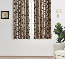 Fashion Leaves Curtains Bedroom Windows Kitchen For Living R