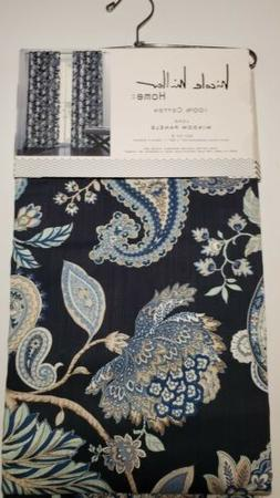 """Nicole Miller Floral Paisley Curtains 52"""" x 96"""" Set of Two L"""