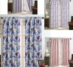 1 PAIR Floral Designs Rod Pocket Insulated Blackout Window D