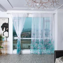 Floral Romantic Flower Window Tulle Curtains For Living Room