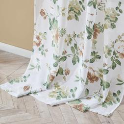 Top Finel Floral Sheer Curtains 96 Inches Long for Living Ro