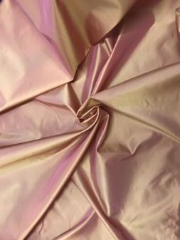 "Gold Pink Iridescent Taffeta Fabric 60"" Width Sold By The"