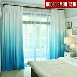 Gradient color window curtains for living room bedroom kitch