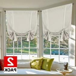 """H.VERSAILTEX Blackout Innovated Tie Up Shade New Style 42""""W"""