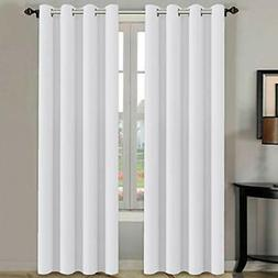 H.VERSAILTEX White Curtains 84 inches Long for Living Room T