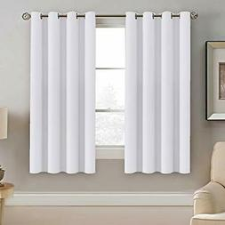 H.VERSAILTEX White Window Curtains 63 Inch Length Thermal In