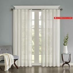 Madison Park Harper Solid Crushed Window Curtain Panels Pair