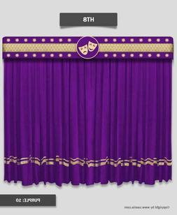 Saaria Home Decor Velvet Screen Curtains Event Stage Drapes
