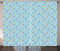 Kids Activity Curtains 2 Panel Set for Decor 5 Sizes Availab