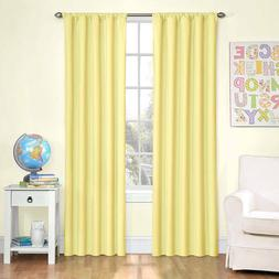 Eclipse Kids Bedroom Microfiber Thermaback Curtain Panel Yel