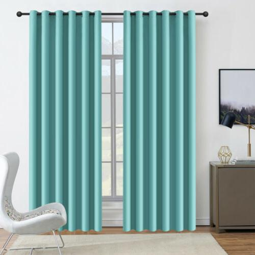 2 Panels Blackout Curtains for Bedroom