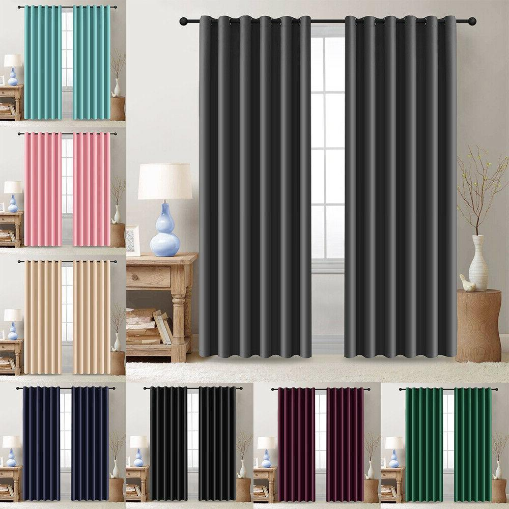 2 panels blackout window curtains thermal insulated