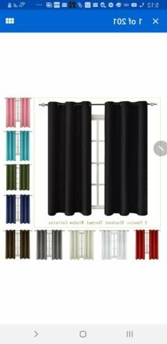 2 Panels Blackout Window Curtains Thermal Insulated Drapes G