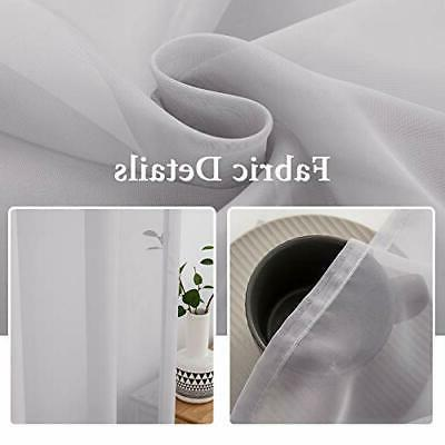 2 Panels Color Sheer Window Curtains Elegant Window Voile