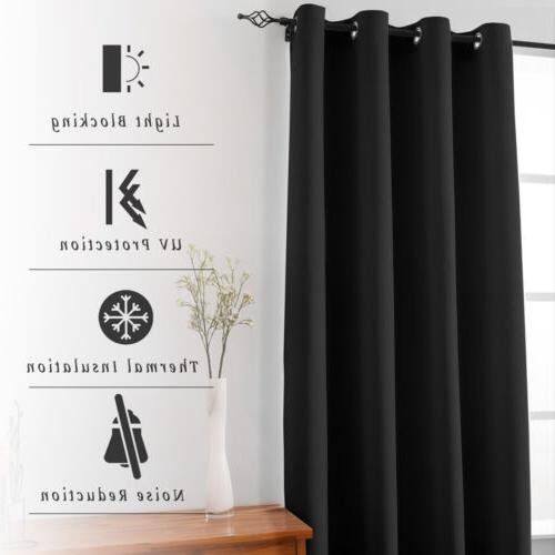 """2 Panels Curtains Thermal Grommet 54"""" 63"""""""