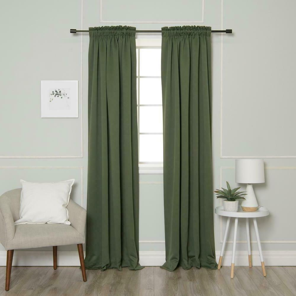 "Best Home Fashion L 52"" W Pencil Pleat in"