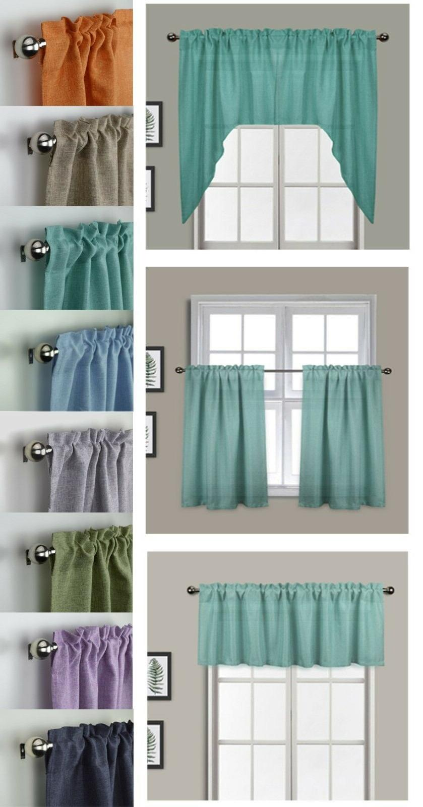 Aiking Home Semi-Sheer 36 inch Cafe Curtains / Tier Panels