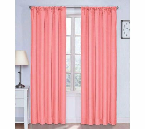 Set 2 Coral Pink Window Curtains Panels Drapes 63 84 inch L