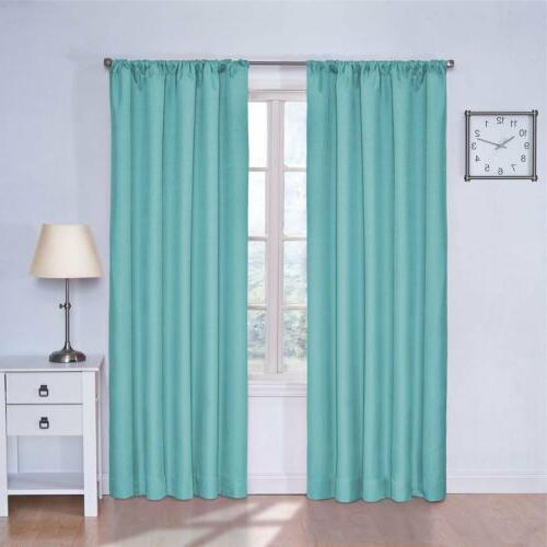 Set 2 Turquoise Blue Curtains Panels Drapes Pair 63 84 inch