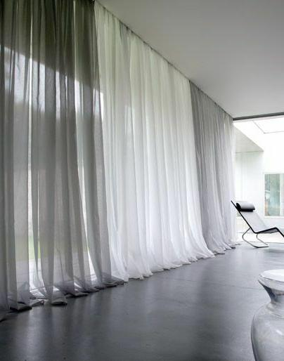 Solid Pure White Sheer Voile Window Curtain In ALL Sizes OVE