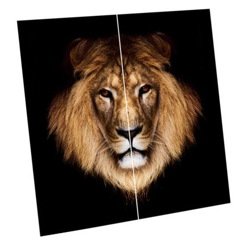 Anti-UV Silky Brown Lion Window Curtains for Living Room, 59