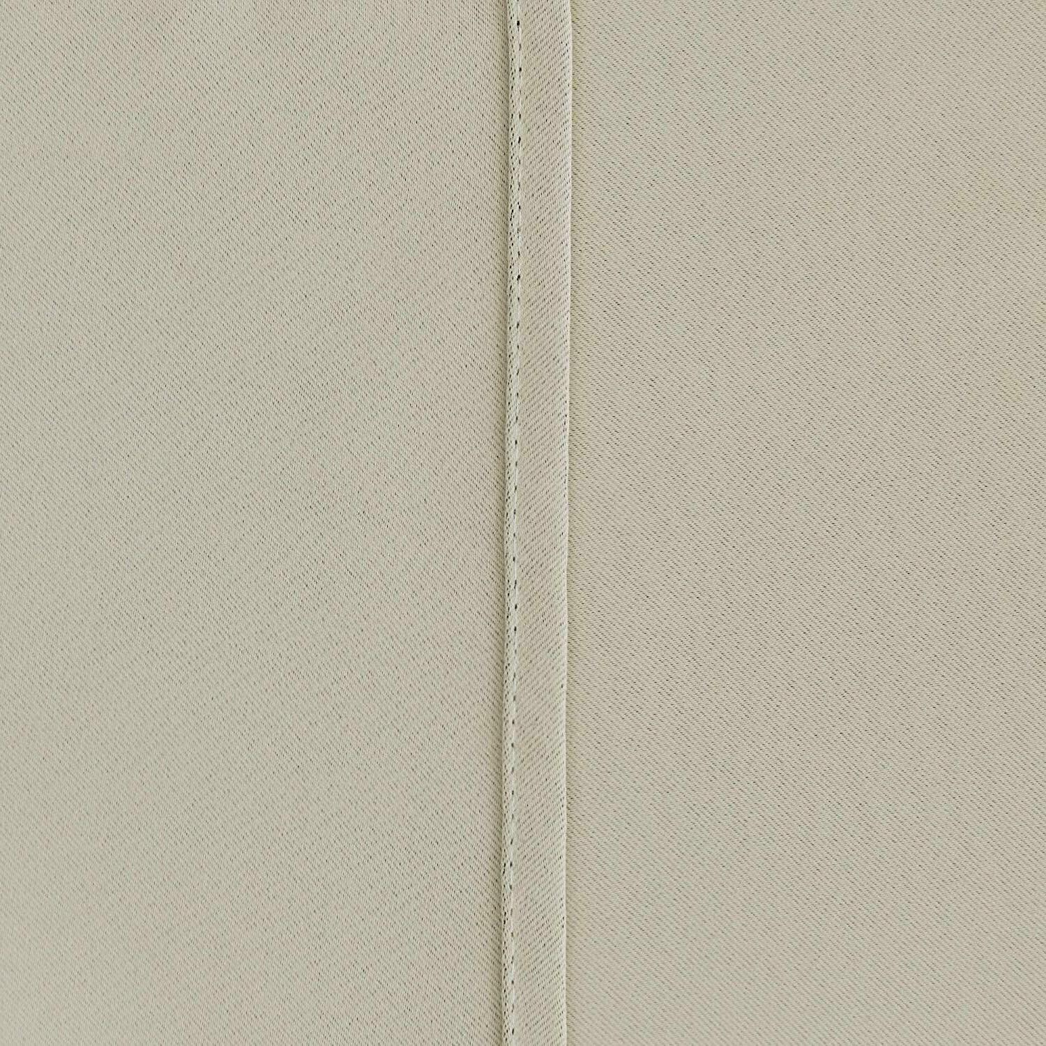 Deconovo BEIGE Blackout Thermal Insulated Rod Curtain
