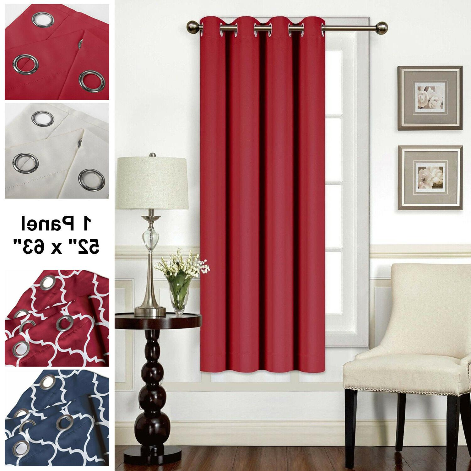blackout curtains 1 panel 52 x63 thermal