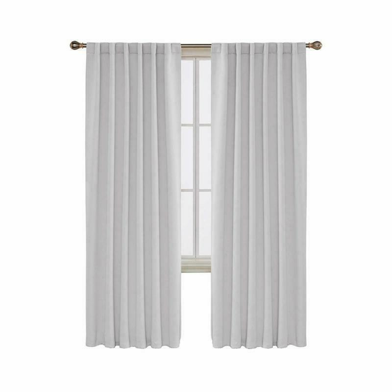 Deconovo Back Tab And Rod Pocket Curtains Blackout Curtains