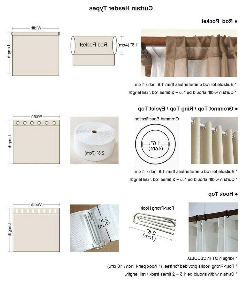 Double-Layer Embroidered Window Drapes Room