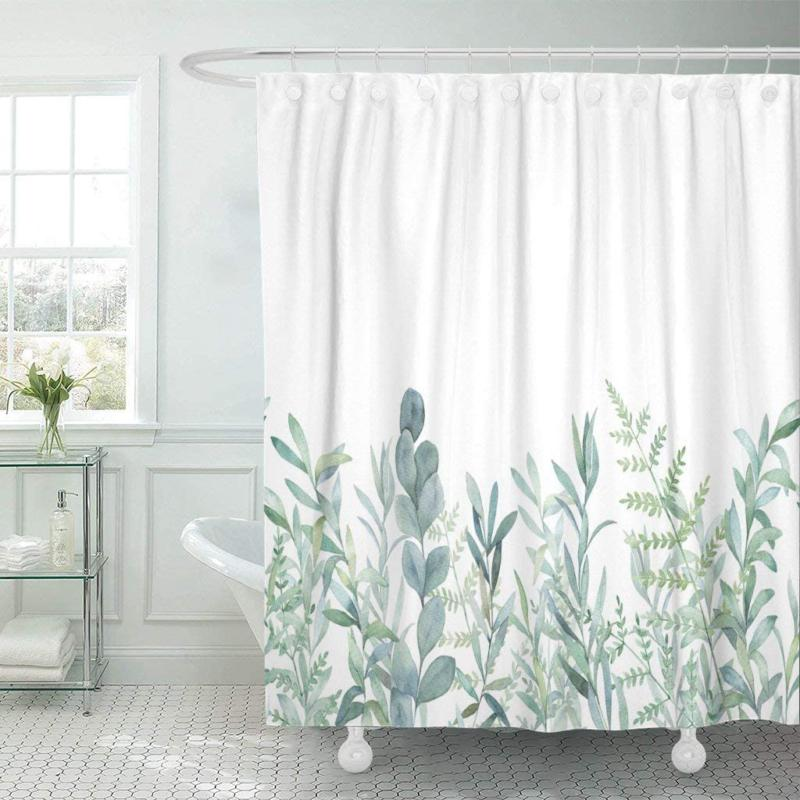 fabric shower curtain curtains with hooks green