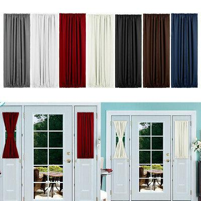 french rod pocket door panel blackout curtains