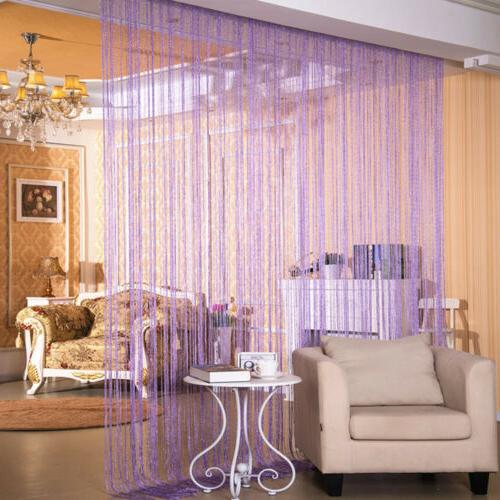 ANMINY String Curtain Room Dividers Beaded Fringe