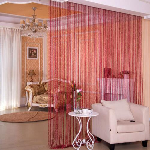 ANMINY String Curtain Room Beaded Fringe
