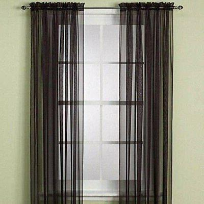 Home 2 Sheer Curtains Rod &