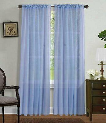 Home Sheer Curtains Pocket & Size.