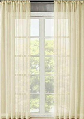 home 2 panels window sheer curtains voile
