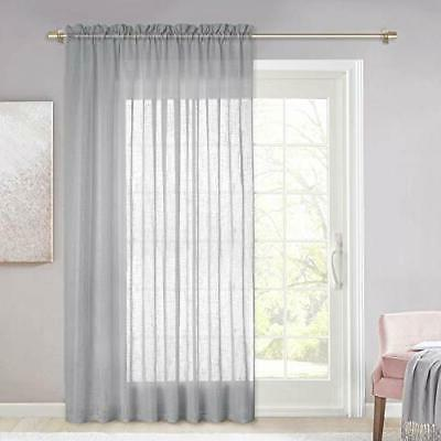 linen look sheer curtain 100 inches wide