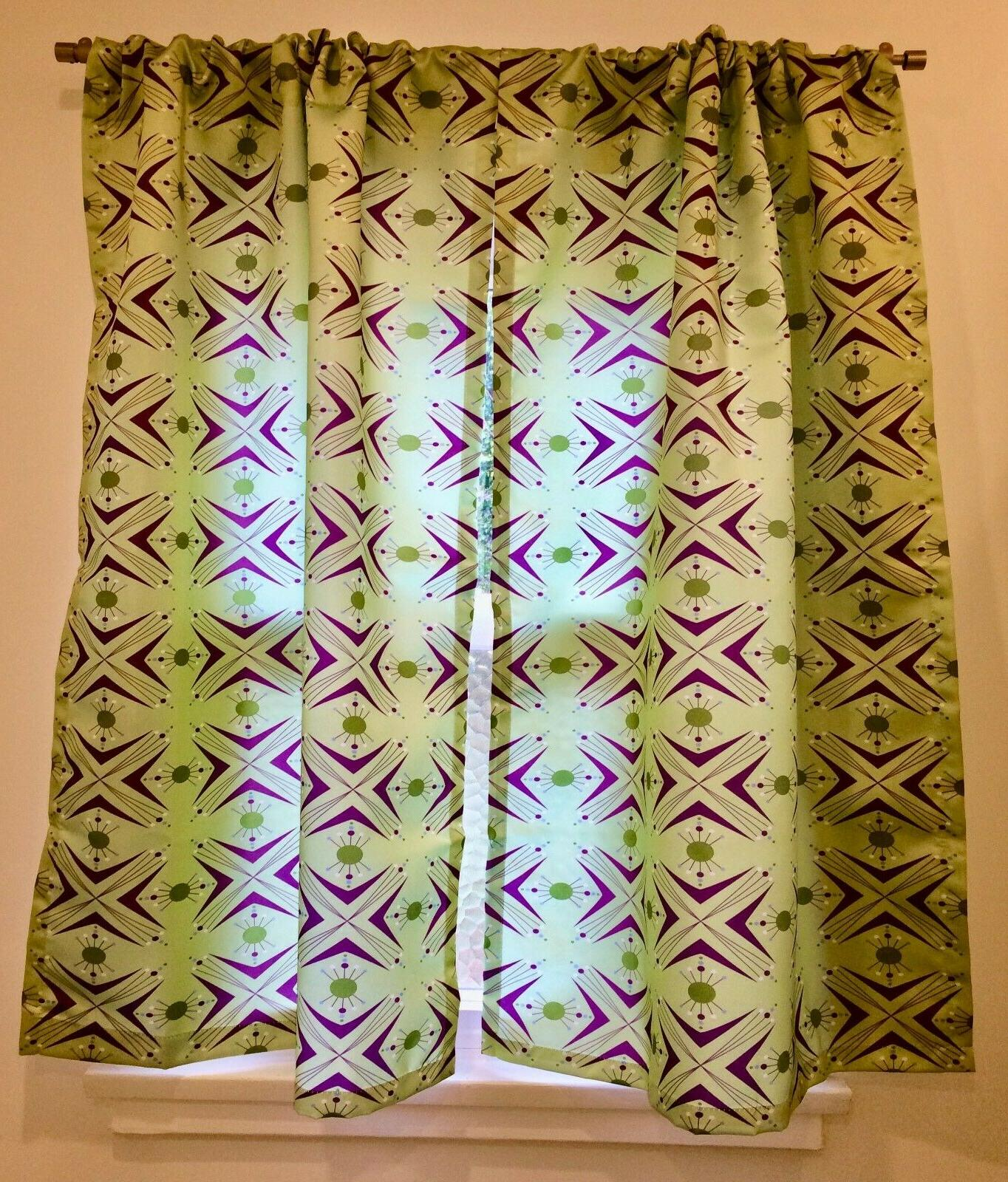 Mid-century modern curtains by