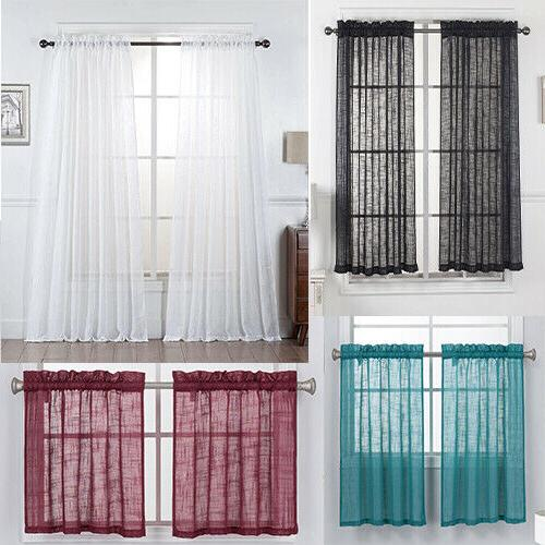 one piece beautiful sheer window elegance curtains