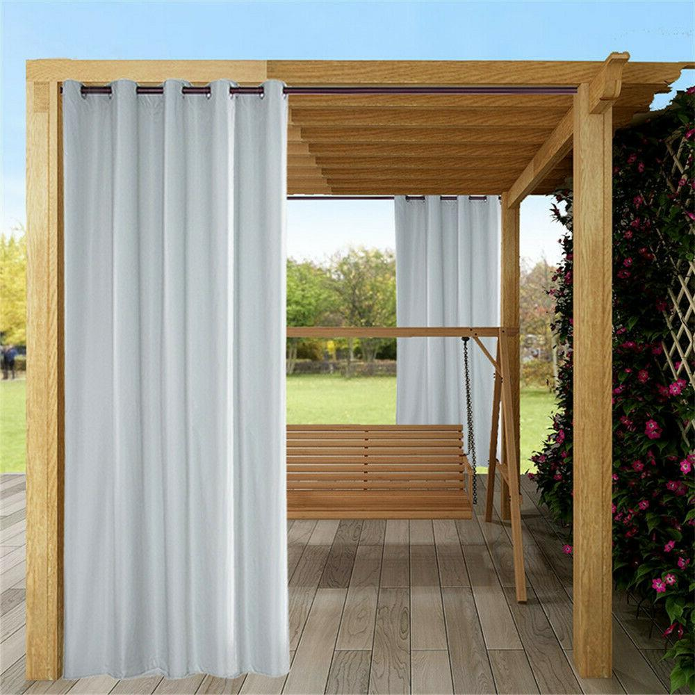 outdoor waterproof patio curtain solid shading curtain