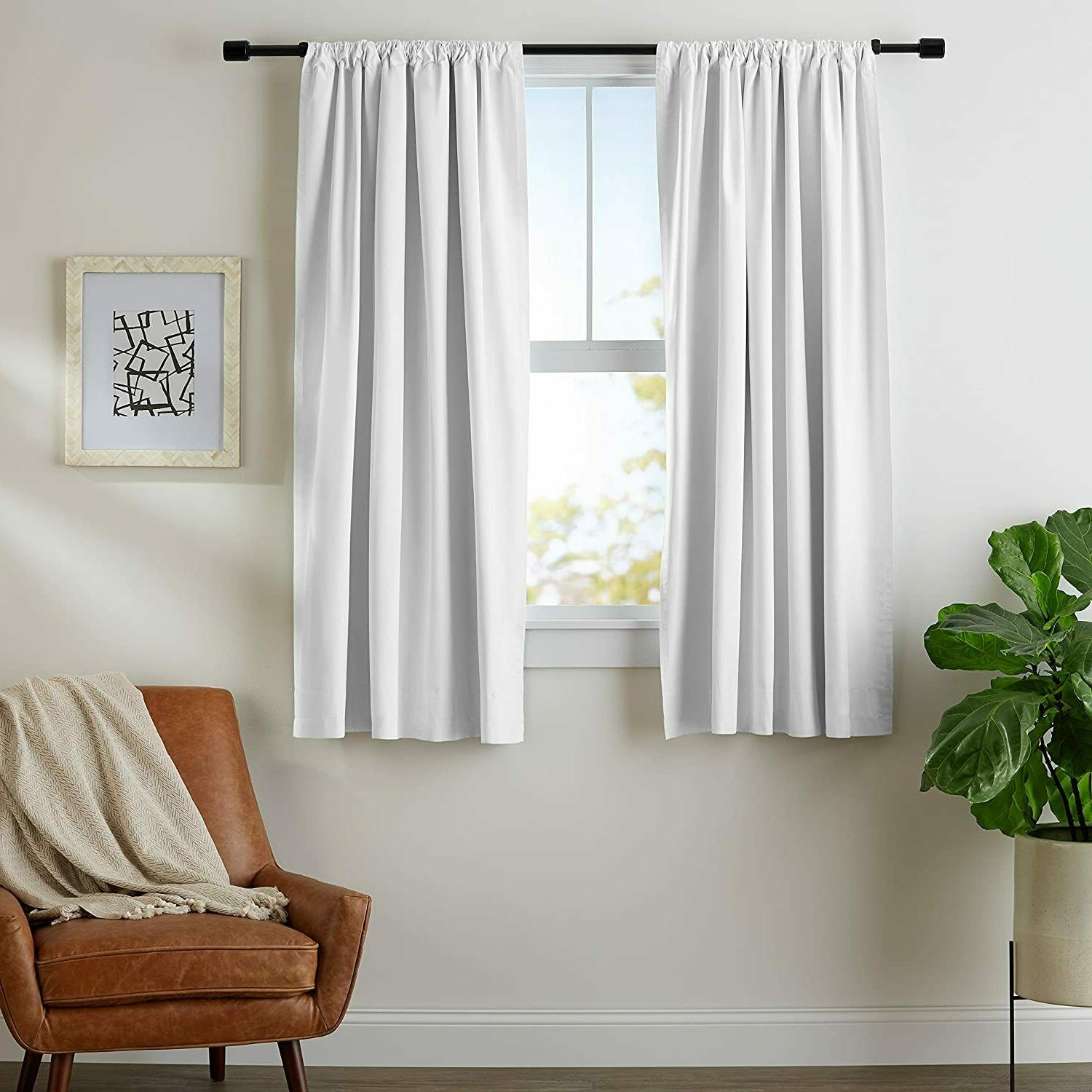 room darkening blackout curtains with tie backs