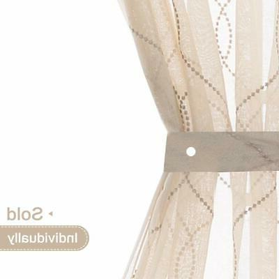 Jinchan Sheer French Door Curtains Embroidered Sheer French