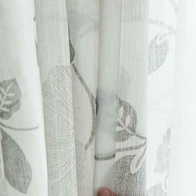 MRTREES Sheer Curtains 36 Inch Flax and