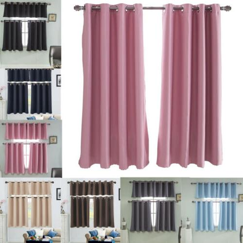 Eyelet Thermal Insulated Blackout Small Window Curtain Blind