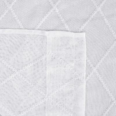 Deconovo Embroidered Faux Curtains Rod Pocket